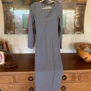 Free People striped fitted dress